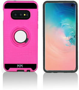 Samsung galaxy S10 Plus MM Metal Ring Stand Case Hot Pink