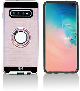 Samsung galaxy S10 Plus MM Metal Ring Stand Case Rose Gold