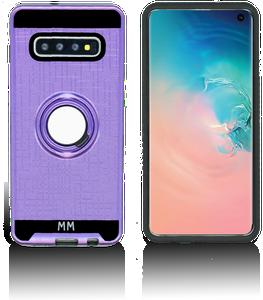 Samsung galaxy S10 Plus MM Metal Ring Stand Case Purple