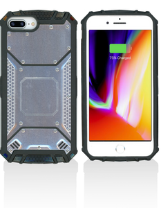 iPhone 8+/7+/6+ MM Magnetic Rugged Case  Silver