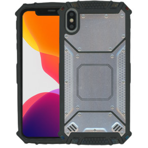 iPhone XS MAX MM Magnetic Rugged Case  Silver