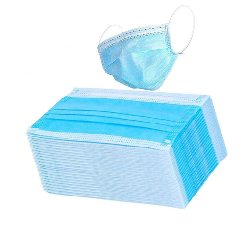 3 PLY FACE MASK DISPOSABLE NON-WOVEN 50 Pack ($0.10 / Item)