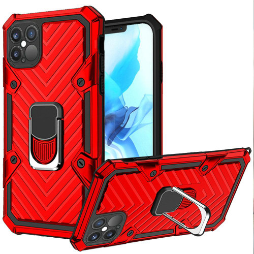 Samsung S21 Ultra Victory Magnetic Ring Stand Case Red