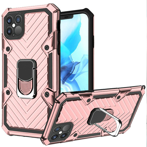 Samsung S21 Ultra Victory Magnetic Ring Stand Case Rose Gold