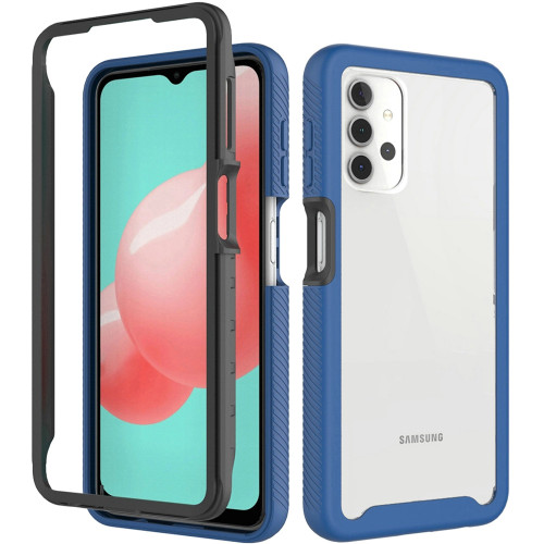 Samsung A32 5G MM Shock Proof Clear Rugged Case Blue