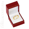 (NEW) BELLA COUTURE BALIENNA Fine Diamond Bezel Set 14K Yellow Gold Ring Band (1/3 CT. TW.)