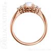 (NEW) BELLA COUTURE PANINA Fine Diamond Genuine Oval Opal Gemstone 14K Rose Gold Ring (1/5 CT. TW.)