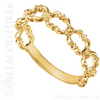 (NEW) BELLA COUTURE OLIVVIA Fine Open Work Fancy Filigree Beaded 14K Yellow Gold Ring Band