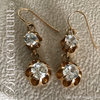 SOLD! - (ANTIQUE) RARE VICTORIAN 1CT TW DIAMOND PASTE 14K YELLOW GOLD DANGLE DROP VTG EARRINGS - Fine Jewelry (One of a Kind)