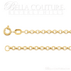 "(NEW) BELLA COUTURE DEANA Gorgeous 14K Yellow 2.5mm Wide Rolo Link Charm Bracelet (7"" Inch)"