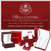 "(NEW) BELLA COUTURE ELEGANTE' Gorgeous 6 Diamond 14K Yellow Gold Bezel Bangle Bracelet (1/2 CT. TW.) 8"""