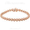 "(NEW) BELLA COUTURE Gorgeous 1 CTW Diamond 14k Rose Gold Tennis Bracelet (7"" Inches)"