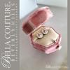 SALE PENDING! - (ANTIQUE) Rare Gorgeous Georgian Victorian Fine Pave Petite Natural Turquoise 18K Rose Gold Floral Earrings