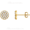 (NEW) Bella Couture CARA Gorgeous Brilliant Round 1/3CT Diamond 14k Rose Gold Round Earrings