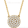 (NEW) Bella Couture CARA Gorgeous Brilliant Diamond 14k Yellow Gold Round Pendant Necklace (1/3CT)