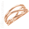 (NEW) BELLA COUTURE VIOLA Fine Elegant Organic Woven 14K Rose Gold Ring