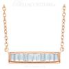 """(NEW) BELLA COUTURE Le FEMME Gorgeous Fine Baguette Diamond (1/4 CT) Vertical Bar 14K Rose Gold Pendant Necklace (18"""" - 16"""" Adjustable Length)"""