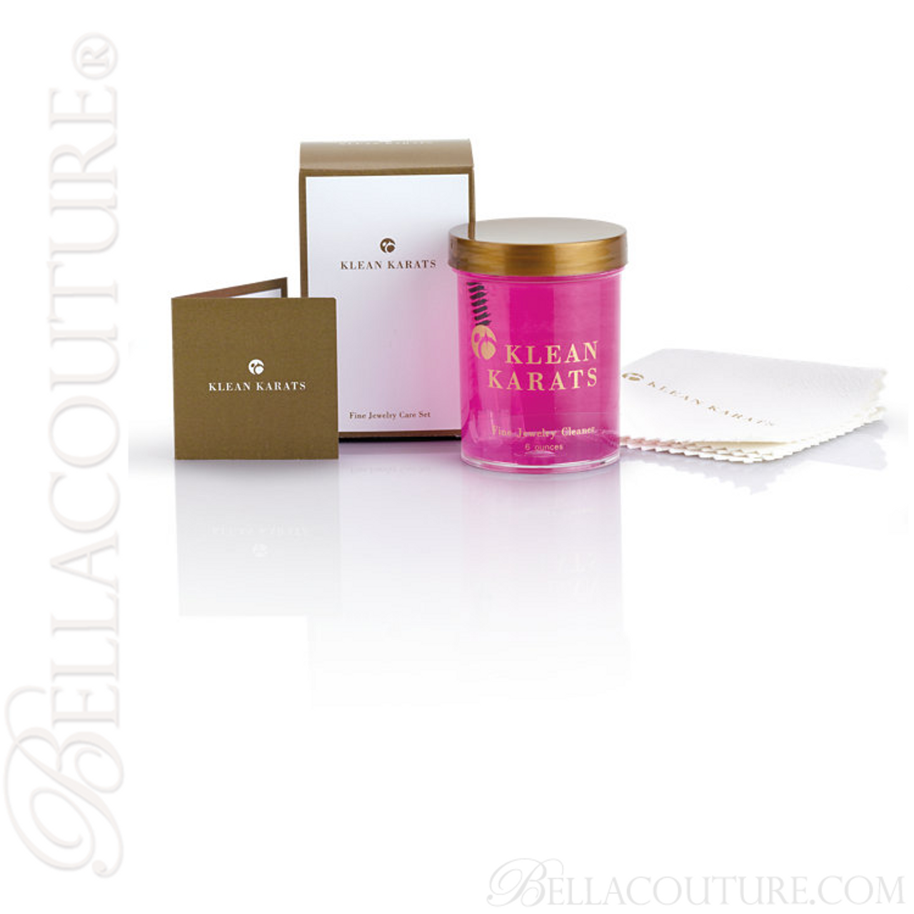 Bella Couture Klean Karats Fine Jewelry Cleaning Cleaner Kit With Plush Polishing Cloth Bella Couture