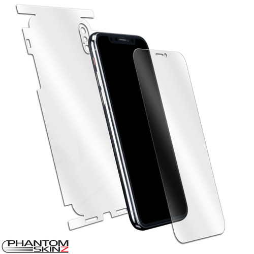 Apple iPhone X self-healing screen protection and full body skins by PhantomSkinz