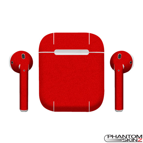 PhantomSkinz Matte Red Skin for Apple Airpods