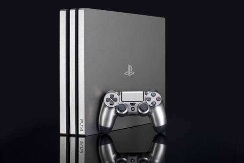 Sony Playstation 4 Pro Brushed Silver Skin by PhantomSkinz