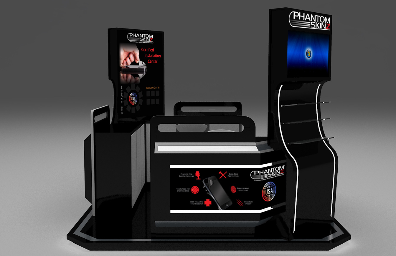 PhantomSkinz Mall Kiosk Wholesale Franchise Opportunity