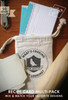 Hand-Stamped Muslin Bag comes with each order.