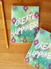 Ocean Aztec Create Happiness Notebook