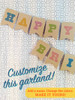 Customize this garland from Earmark Social Goods