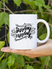 Sunday Funday Ceramic Mug in Black