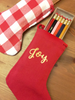 Customize this set with 18 super fun engraved pencils. Over 40 sayings to choose from! Comes with a fun stocking during the holidays too!