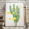 Cactus with gold splatter art print by Earmark Social Goods.