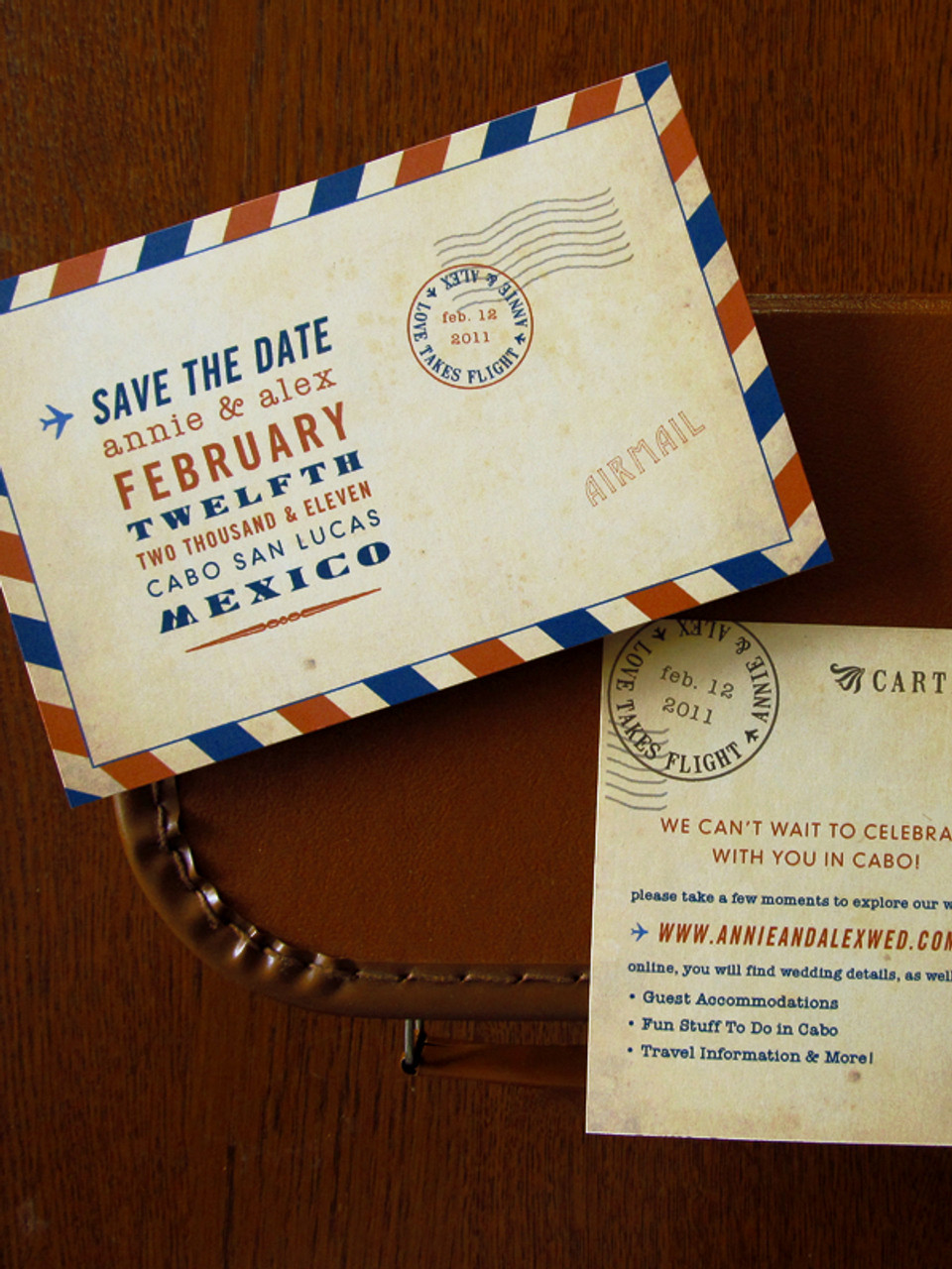 5fd5d41bfe Vintage Airmail Carte Postale Save the Date or Invitation PostCards by  Earmark Social Goods Inc.