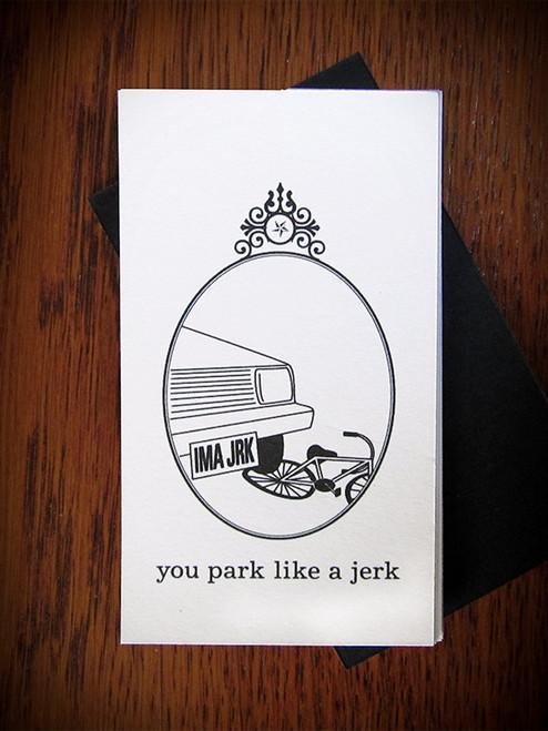 12 You Park Like a Jerk cards