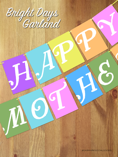 Bright Days Mother's Day Garland