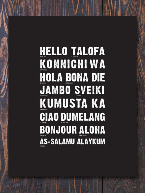 Global Hello Art Print