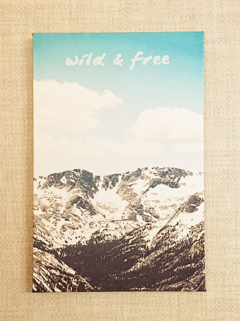 """All Good Things are Wild and Free"" - Thoreaux // Fabric print inspired by the beauty of the Rocky Mountains by Earmark Social Goods"