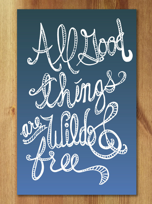 Lovely hand-lettered art print.