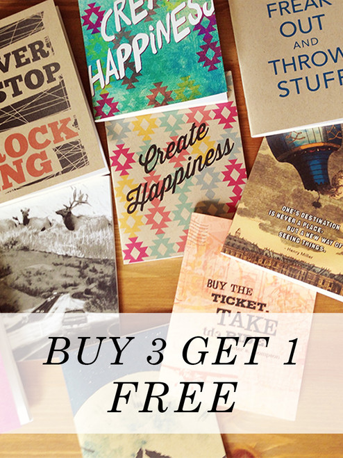 Buy 3 Get 1 Pocket Notebook for Free! Great handmade gift.