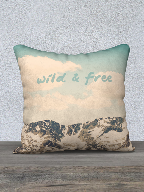 Wonderful Wild and Free Pillow. Looks great for a nice couch nap!