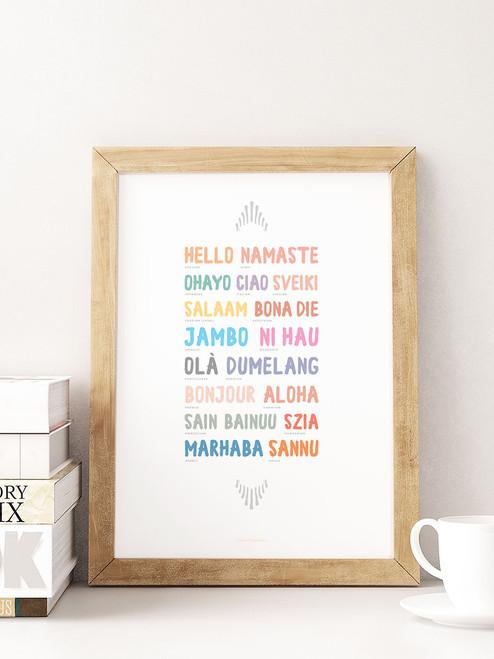 Wordly Hello Multi-Language Printable Art
