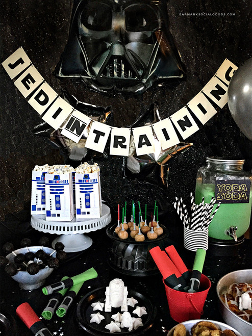 Jedi in Training Star Wars Themed Party Banner