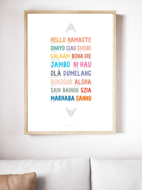 Worldly Hello Art Print