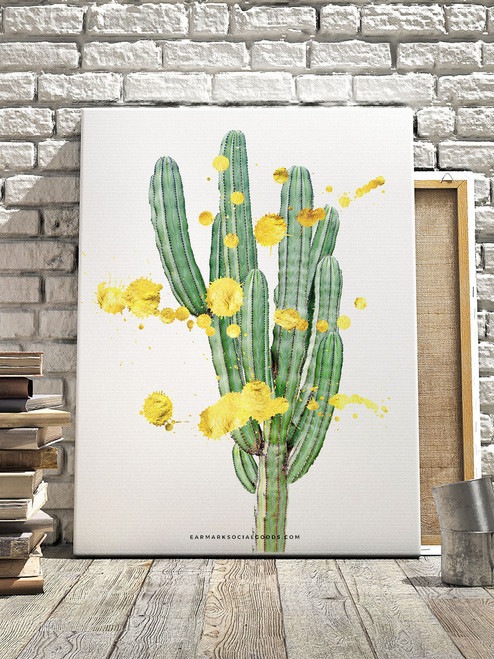 Awesome Golden Cactus Wall Art!