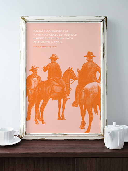 Gorgeous Adventure-Inspired Giclee Art Print featuring a wonderful Emerson quote! Part of our Adventure Series by Earmark Social Goods.