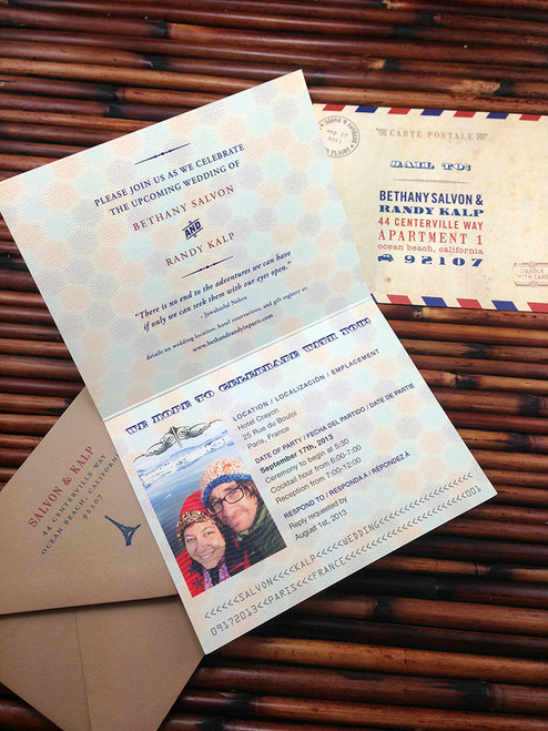 Awesome Passport Inspired Wedding Invitations! Love this idea. Affordable too. / Earmark Social Goods \
