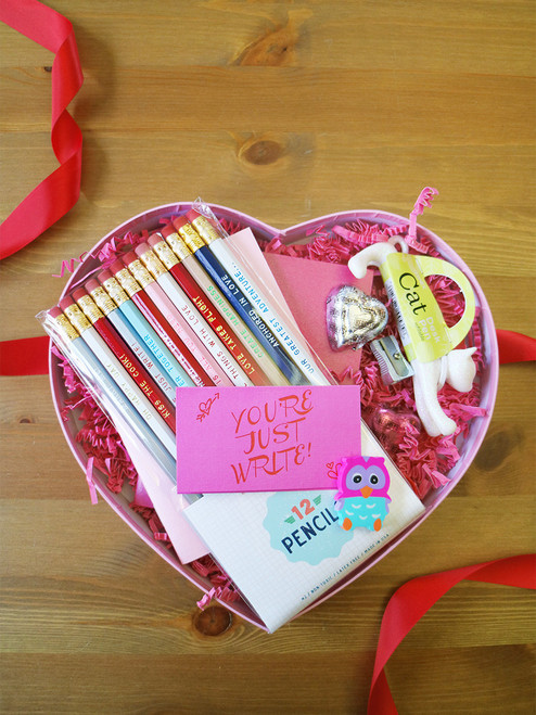 Give something awesome this Valentine's Day! Pencils, Notebooks, Chocolates and more! FUN!
