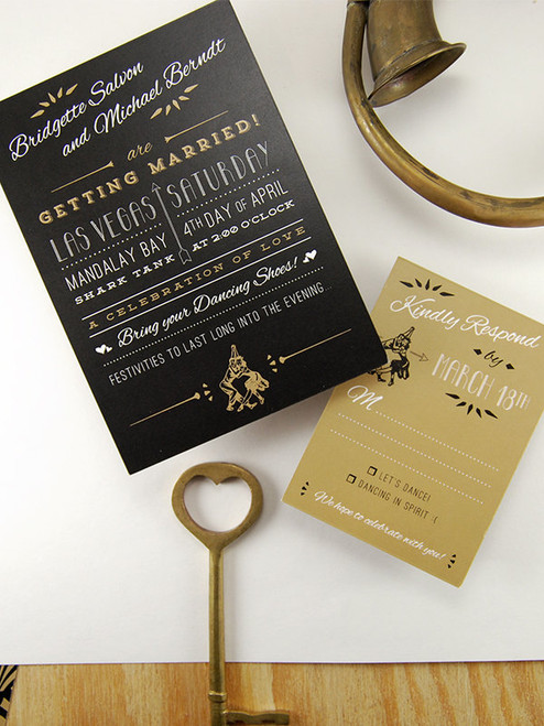 This fantastic Invitation ensemble is just screaming Gatbsy! Love this for a vintage inspired gathering!