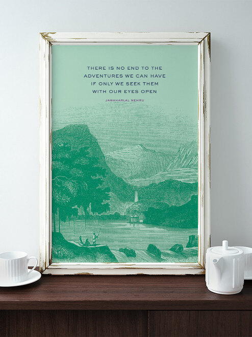 One of my all-time favorite quotes. Love this spirited art print by Earmark Social Goods.