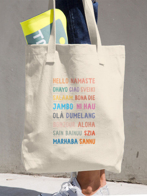 Such a cute tote bag! Great for going from classroom to grocery store to home!